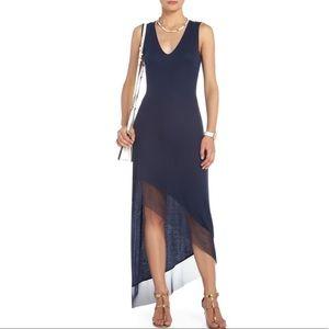 BCBG MaxAzria Alisanne Ribbed Asymmetric Dress M